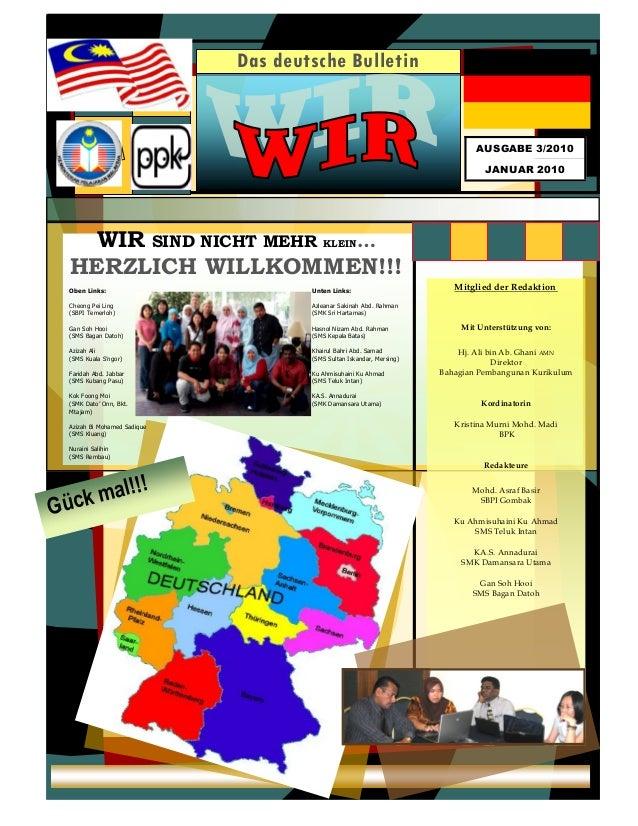 1  1  Das deutsche Bulletin Ausgabe 1/2008  Januar 2008  AUSGABE 3/2010  JANUAR 2010  Mitglied der Redaktion  Mit Unterstü...