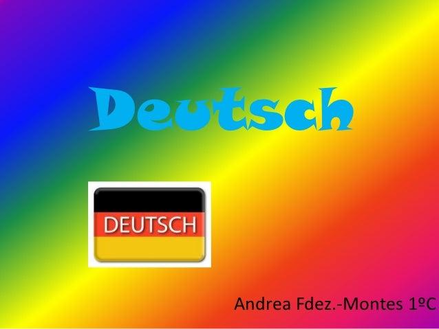 Deutsch   Andrea Fdez.-Montes 1ºC