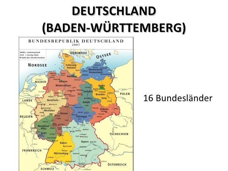 DEUTSCHLAND (BADEN-WÜRTTEMBERG) 16 Bundesländer