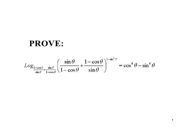 PROVE:              1