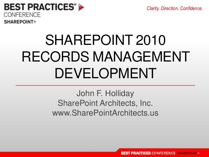 DEV212 SharePoint 2010 Records Management Development