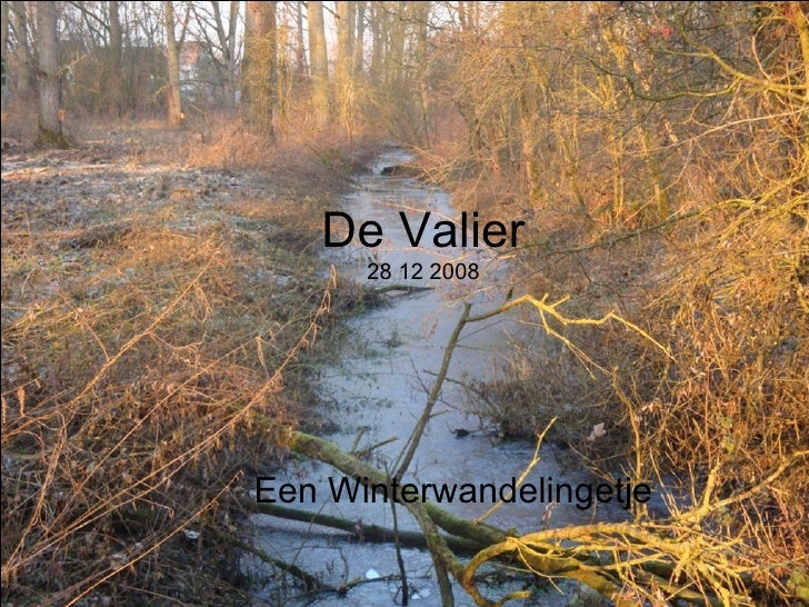 De Valier 28 12 2008 Een Winterwandelingetje