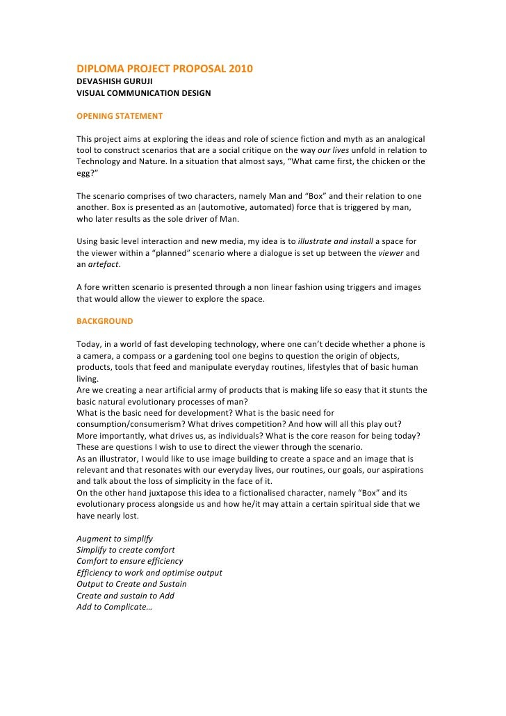 Devashish diploma project proposal