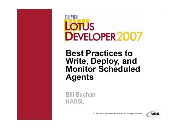 The View - Best practices to write, deploy and monitor scheduled agents