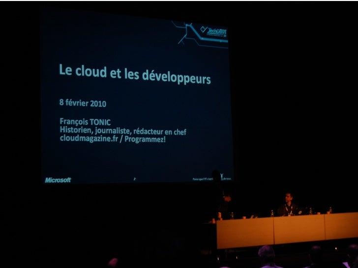 Le développeur et le Cloud