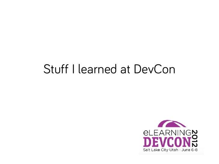 Devcon 2012