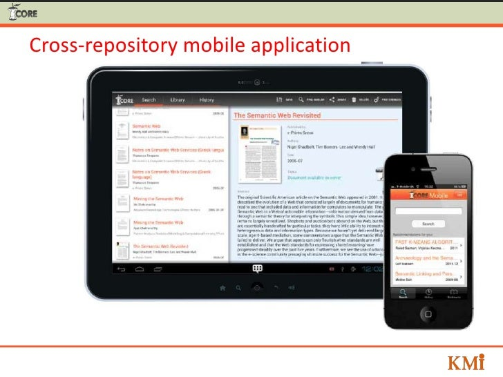 Cross-repository mobile application