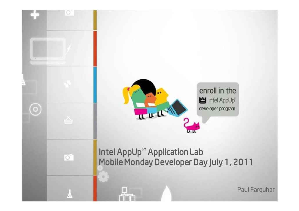 Overview Intel AppUp developer program