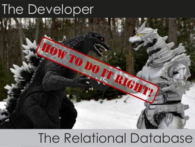 The Developer vs. The Relational Database: How to do it right