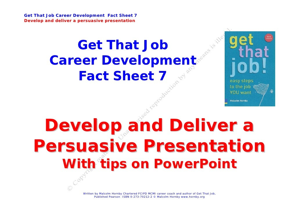 Job Hunting - how to give a great presentation