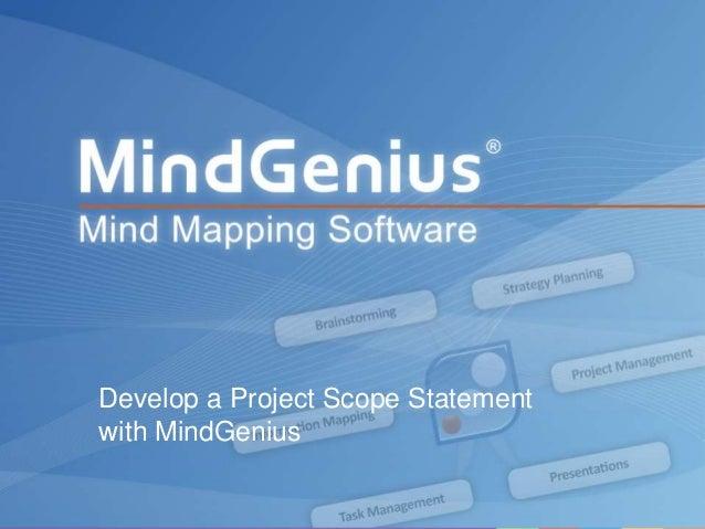Develop a Project Scope Statement with MindGenius