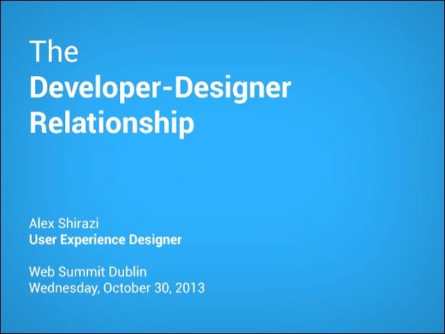 The Developer-Designer Relationship