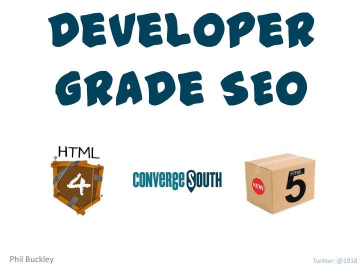 Developer Grade SEO - part II