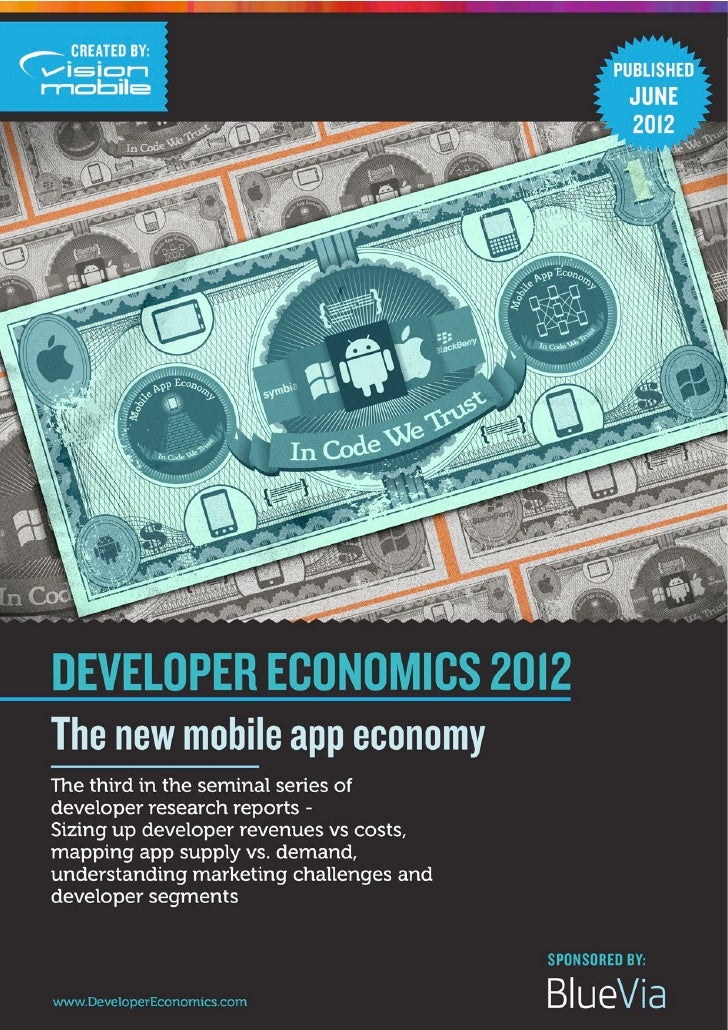 Developer economics 2012   vision mobile