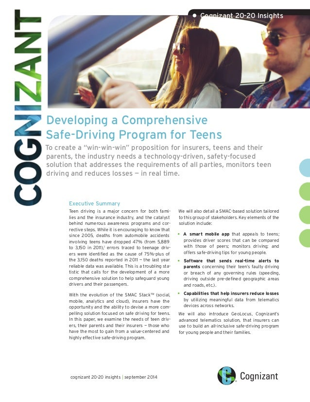 Developing a Comprehensive Safe-Driving Program for Teens