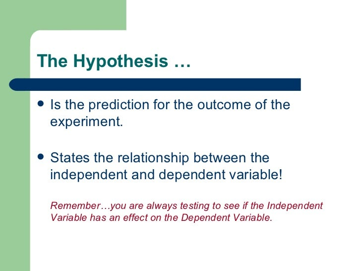 hypothesis and prediction examples Examples of hypothesis testing about the variance  a good hypothesis is testable, meaning it makes a prediction you can check with observation or testing.