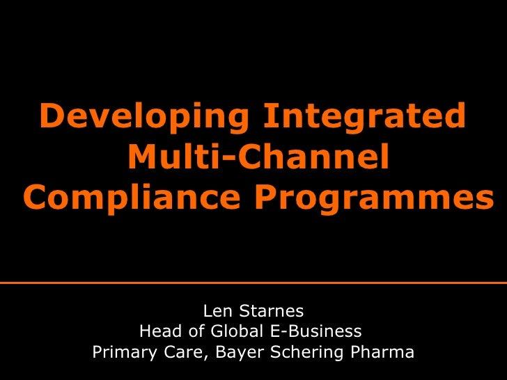 Developing Integrated Multichannel Patient Relationship Management Programmes