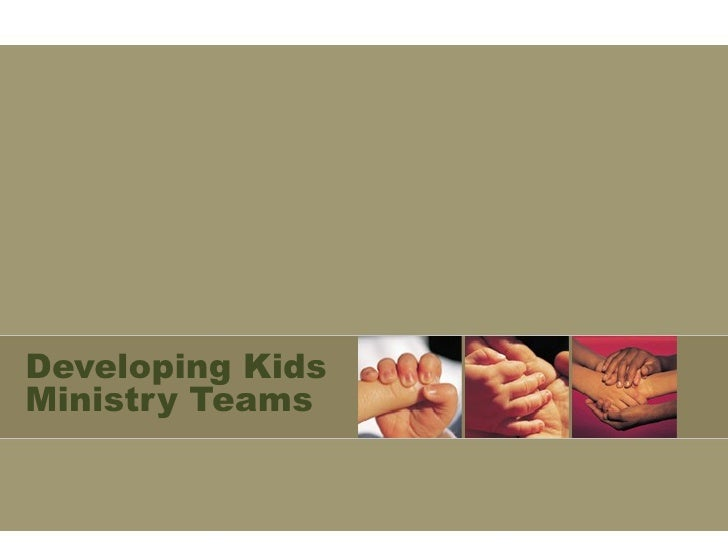 Developing Kids Ministry Teams