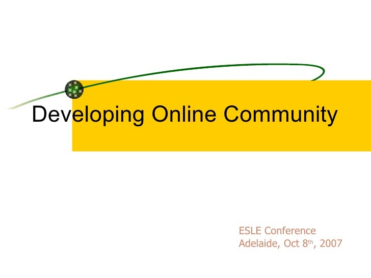 Developing Online Community