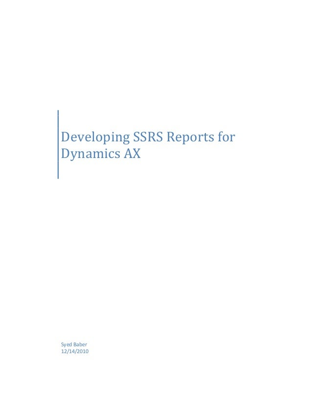Developing ssrs-reports-for-dynamics-ax