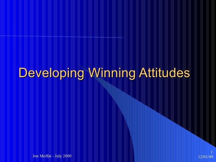 Developing Winning Attitudes