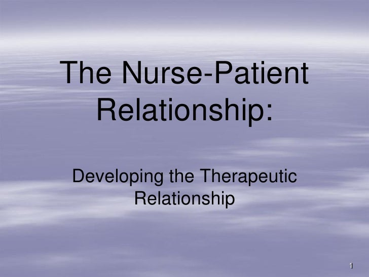 the therapeutic relationship essay