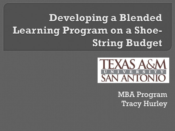 Developing A Blended Learning Program On A Shoe String