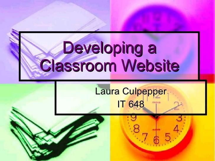 Developing A Classroom Website