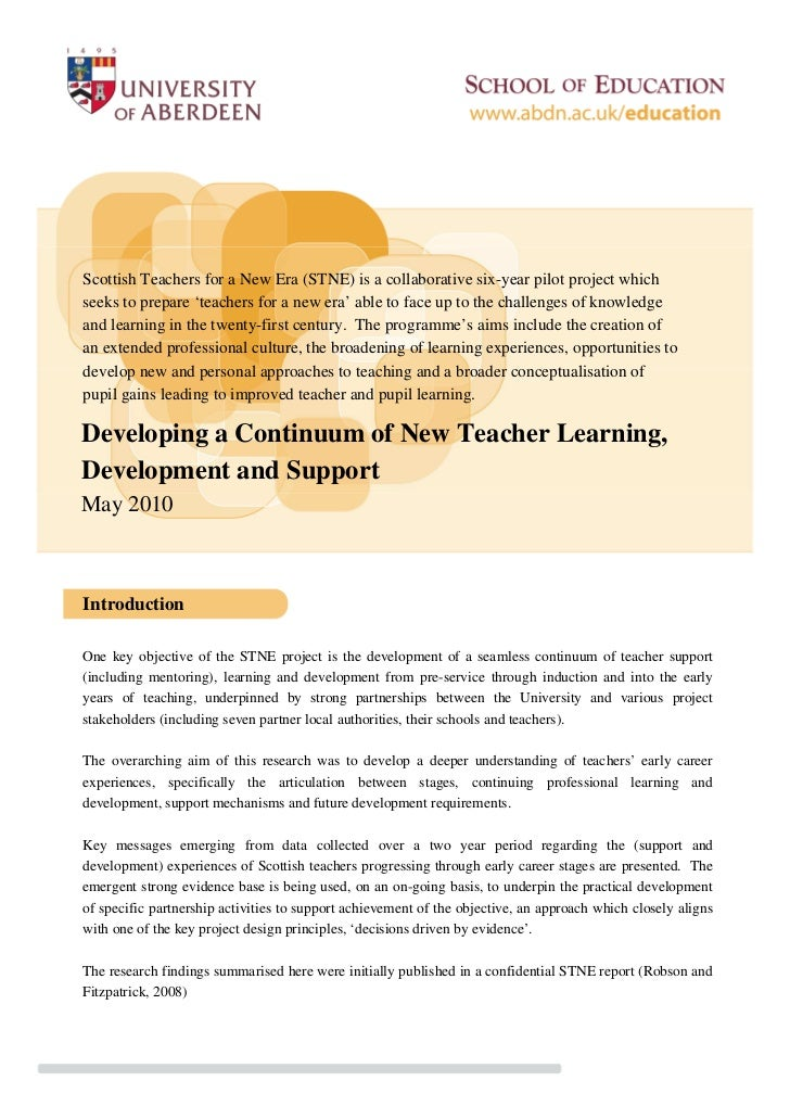 Scottish Teachers for a New Era (STNE) is a collaborative six-year pilot project whichseeks to prepare 'teachers for a new...