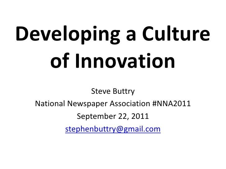 Developing a culture of innovation