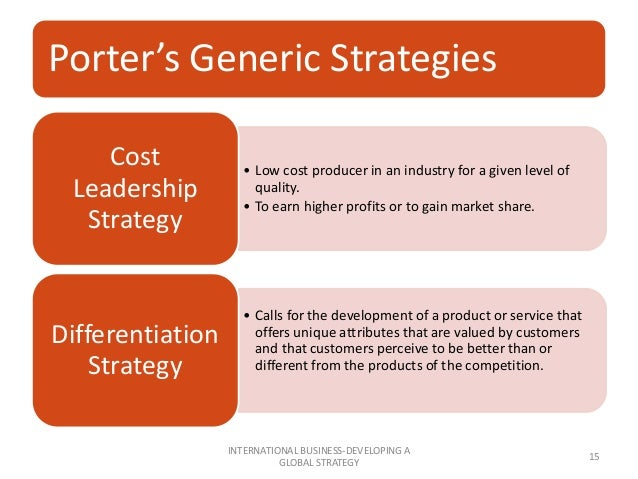porter s generic strategies mcdonalds It is the world's second largest restaurant chain after mcdonald's, with 14,577 outlets in 123 countries and territories as of december 2015 the company is a subsidiary of yum brands, a restaurant company that also owns the pizza hut and taco bell chains  - porter's three generic strategies  1.