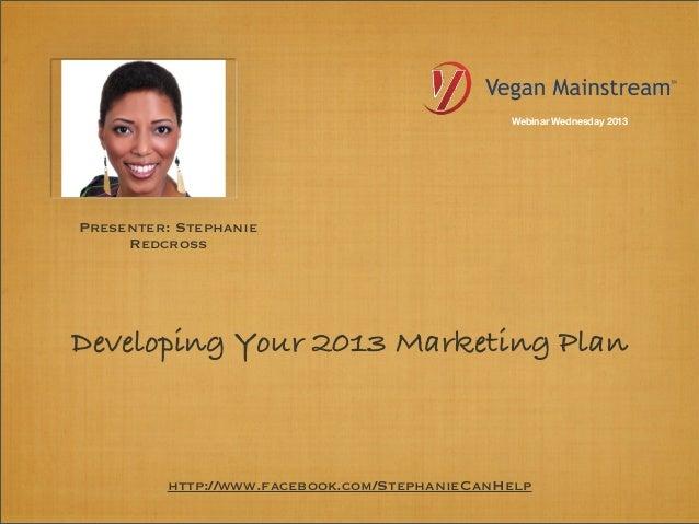 Webinar Wednesday: Developing A Marketing Plan