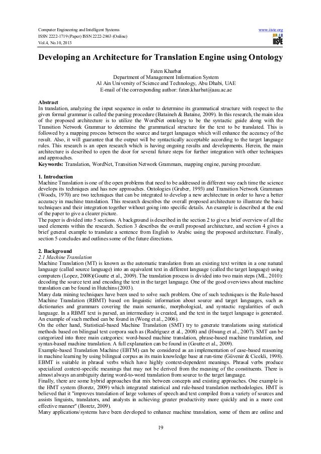Computer Engineering and Intelligent Systems ISSN 2222-1719 (Paper) ISSN 2222-2863 (Online) Vol.4, No.10, 2013  www.iiste....