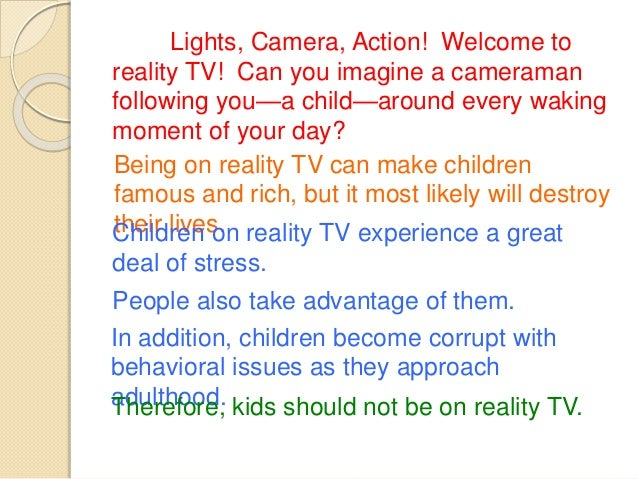 Reality tv essays