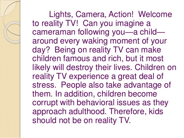 Watching TV is Bad for Children (Argumentative Essay)