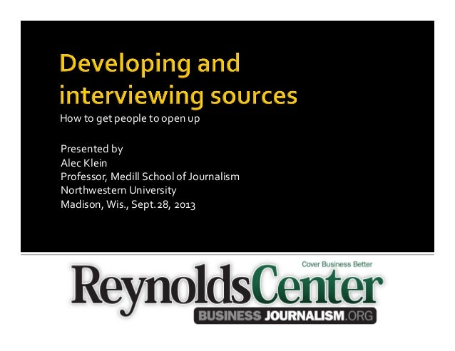 Presented  by   Alec  Klein   Professor,  Medill  School  of  Journalism   Northwestern  University  ...