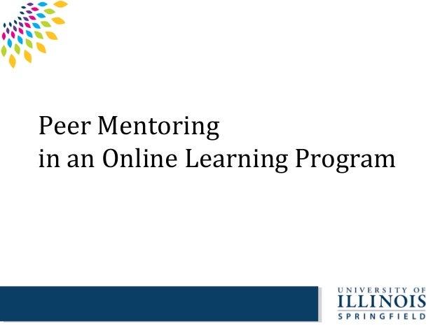 Peer Mentoringin an Online Learning Program