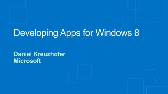 W8/WP8 App Dev for SAP, Part 3A: Developing Apps for Windows 8