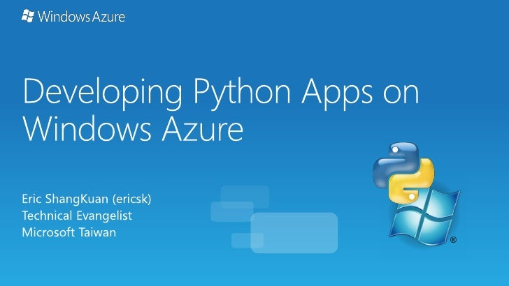 Developing Python Apps on Windows Azure