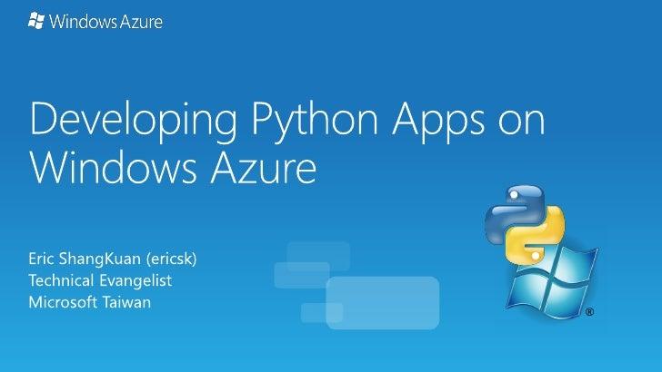 Developing Python Apps on Windows Azure