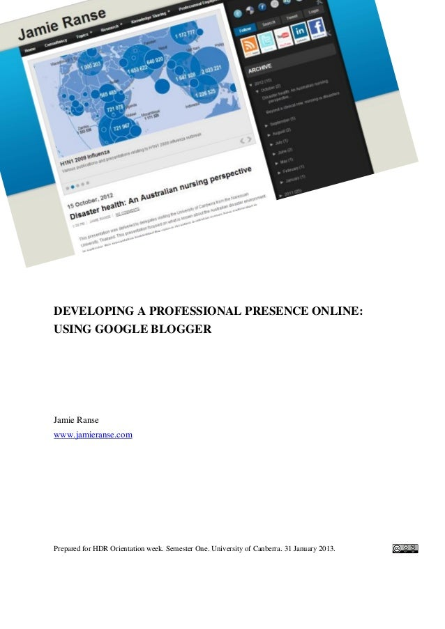 Developing a professional presence online
