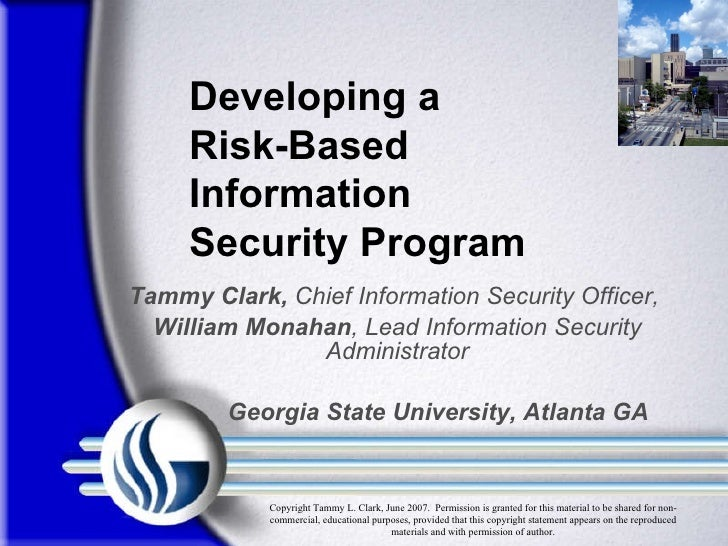 Tammy Clark,  Chief Information Security Officer,  William Monahan , Lead Information Security Administrator Georgia State...