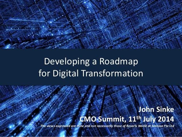 Developing a Roadmap for Digital Transformation