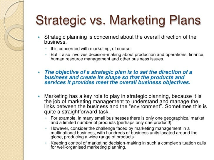 How to write a strategic business plan