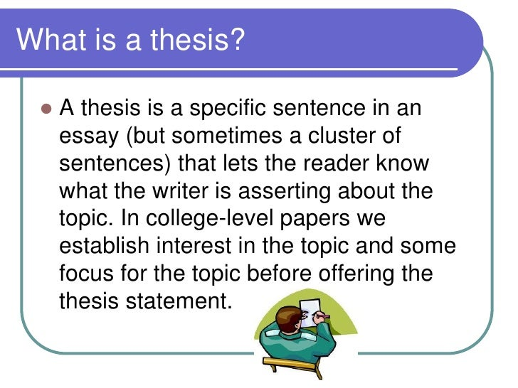 define thesis in english