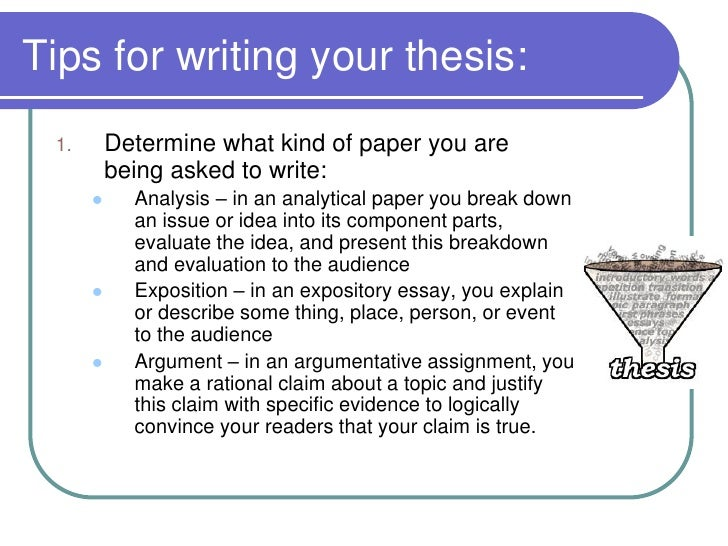 a good thesis statement should include In essays and research papers, your introduction should contain a thesis statement your thesis will express the main idea of your paper and share your position on the topic.