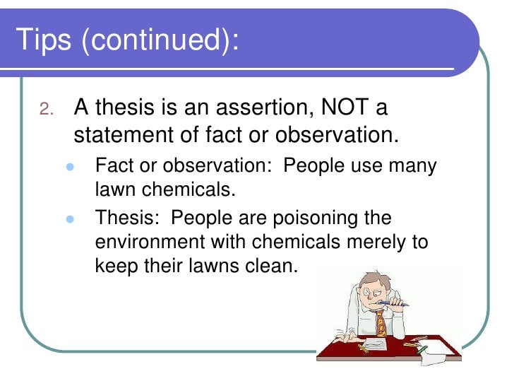 can you ask a question in a thesis statement