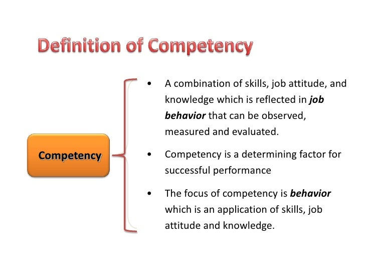 Developing Competency