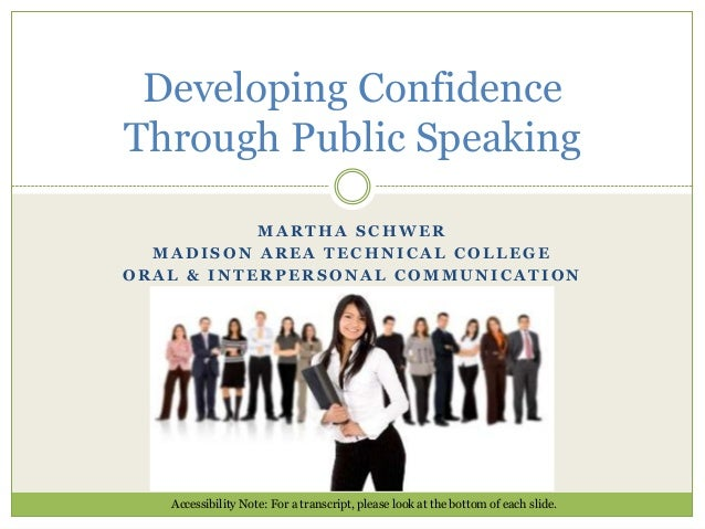 Developing confidence through public speaking