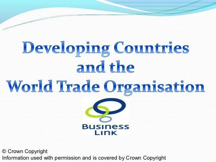 Developing Countries & the WTO